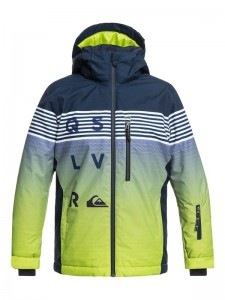 Kurtka Quiksilver MISSION ENGINEERED YOUTH 2018/19 Lime Green Black