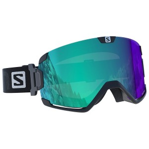 Gogle Salomon COSMIC PHOTO Blk/AllWeath Blue 2018/2019