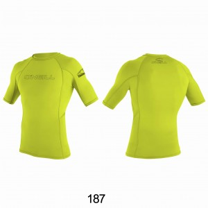 Lycra O'NEILL Rash Guard basic S/S lime 2020
