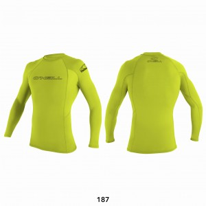 Lycra O'NEILL Rash Guard basic L/S lime 2020